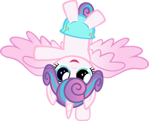 Flurry Doing a Hoofstand by red4567-2
