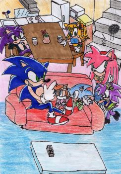Sonic Family by Natchaotix