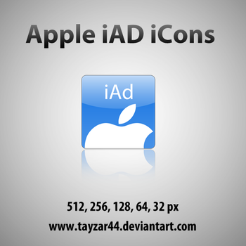 Apple iAd iPhone iCon Set by tayzar44
