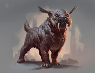 Sabertoothed Pug by RAPHTOR