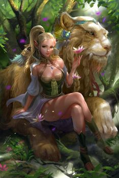 Elf forest with beast by derrickSong