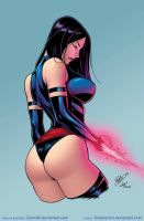 Psylocke by Dannith by Kristherion