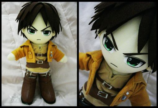Eren Jaeger - FOR SALE by renealexa-plushie