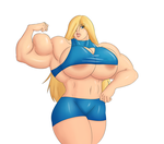 Buff Busty Samus by ModeZombie