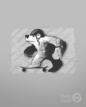 Skateboard Bear by Loek93