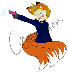 GIMMIE THE MATERIAL OR I'LL SHOOT! Commission by Shadowgirl57