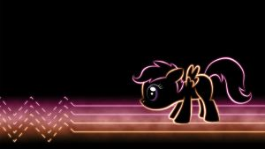 Scootaloo Glow Wallpaper by SmockHobbes