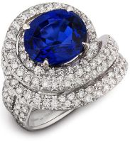 Sapphire and Diamond Ring by DianaVincent