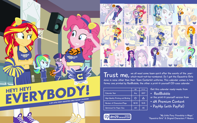 HEY! HEY! EVERYBODY! An MLP EQG Fanart Calendar by dm29