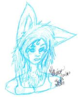 Blue Wolf Girl by wolf-girl87