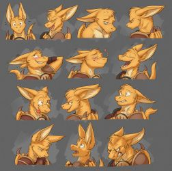 Commission: Spaxe's Expression Sheet by Temiree