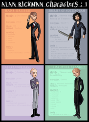 Characters by ArcanePrayer by rickmaniacs