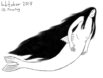 Inktober - 10. Flowing by Forecaster71