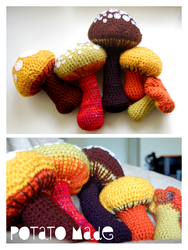 Potato Made - Crochet Mushrooms by AngryPotato