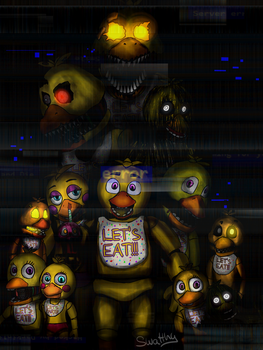 :FNaF Speedpaint:All Chica by Swatthy