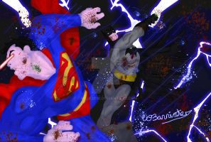 The Dark Knight VS The Man of Steel by Cazza2010