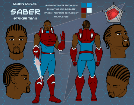Saber Character Sheet by Dualmask