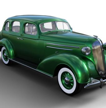 1936 AM SedanBody Green by JGreenlees