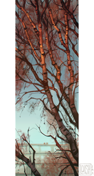 birch tree by loish