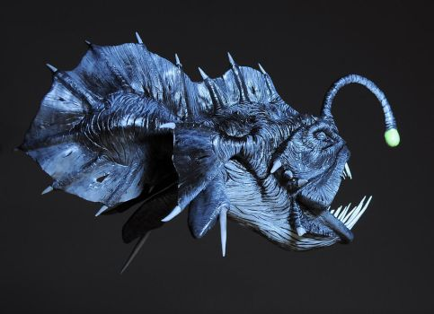 Prehistoric Angler fish / Painted by Heliot8