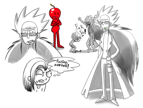 My headcanon version of Rick and Morty sketchdump by ReneesInnerIrken