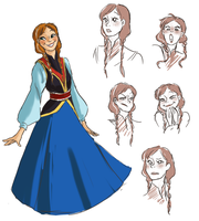 Frozen redesign: Anna by kemiobsesses