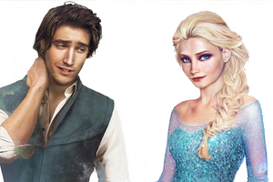 Flynn and Elsa Portrait by 2x0x0x0x0x2
