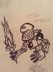 Toa Mata Tahu Sketch by apolloscooter