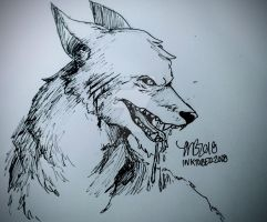 InkTober 2018 - Day 6 (Drooling) by InstantDoodles13
