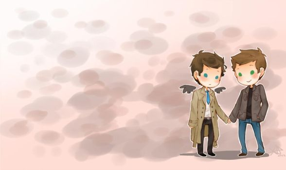 destiel desktop by Life-Writer
