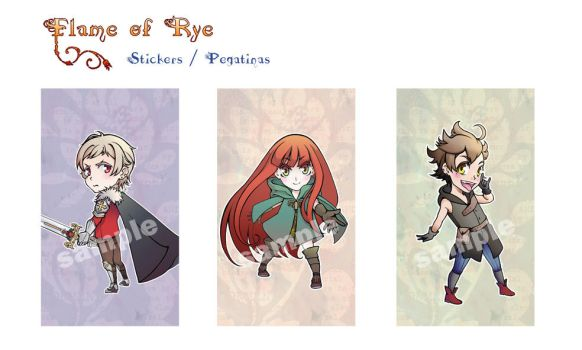 Flame of Rye: Stickers by elypsiaproject