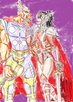 BetaRay Bill and Lady Sif by theaven