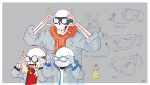 Science Disaster Bros Goggles by Ketchupberry