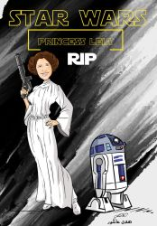 R.I.P. Carrie Fisher, actress best known as Star W by superhilalo