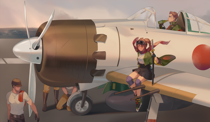 The Zero Fighter by Juupion