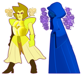 Yellow and Blue Diamond by Zamiiz