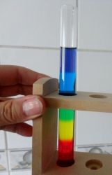 Test tubes with colors by Maleiva