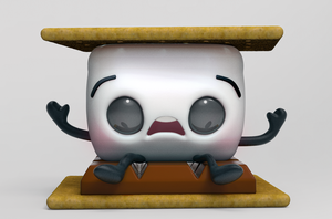 Zbrush Doodle: Day 1274 - Reluctant S'more by UnexpectedToy