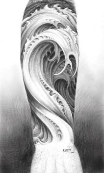 Water tattoo design by M-Amey