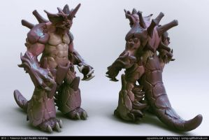 Pokemon Sculpt: Realistic Nidoking 2013