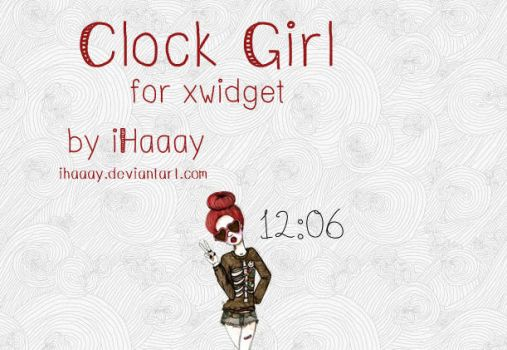 Clock Girl for xwidget by iHaaay