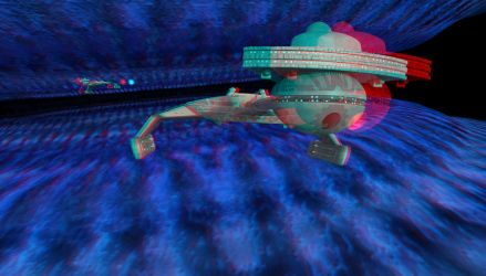 3D Anaglyph - Running from V'Ger by bob-dawg
