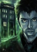 50 Years of Doctor Who - the Tenth Doctor by PandaChou
