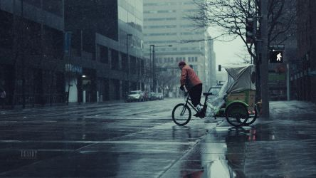 Pedicab in the Rain by brandtcampbell
