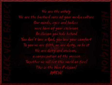 BVB  New Religion Lyrics by GD0578