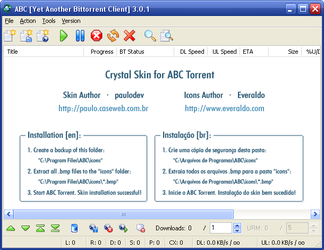 Crystal ABC Torrent Skin by paulodev