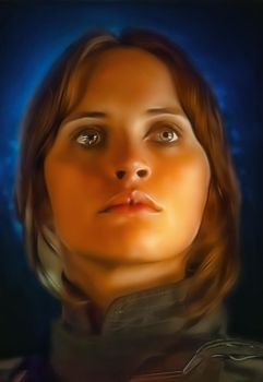 Star Wars Rogue One Jyn Erso by Felicity Jones by petnick
