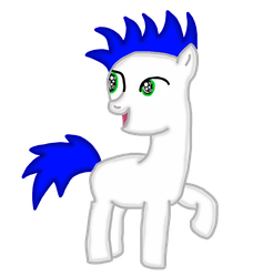 SonicGamer as a colt by RomanceWriter1