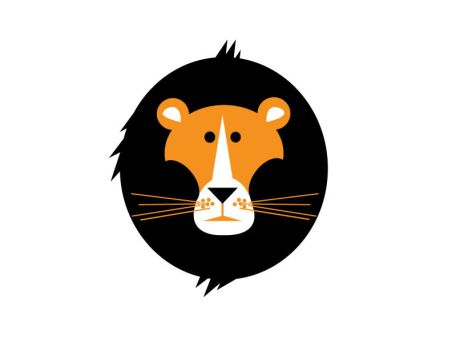 Really Simple Lion Vector - Learning by hurdurivan