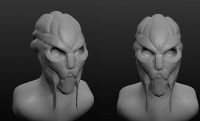 Turian 3d Sketch by Radioactive-Insanity